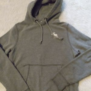 Hoodie Abercrombie and Fitch gray sweatshirt thick